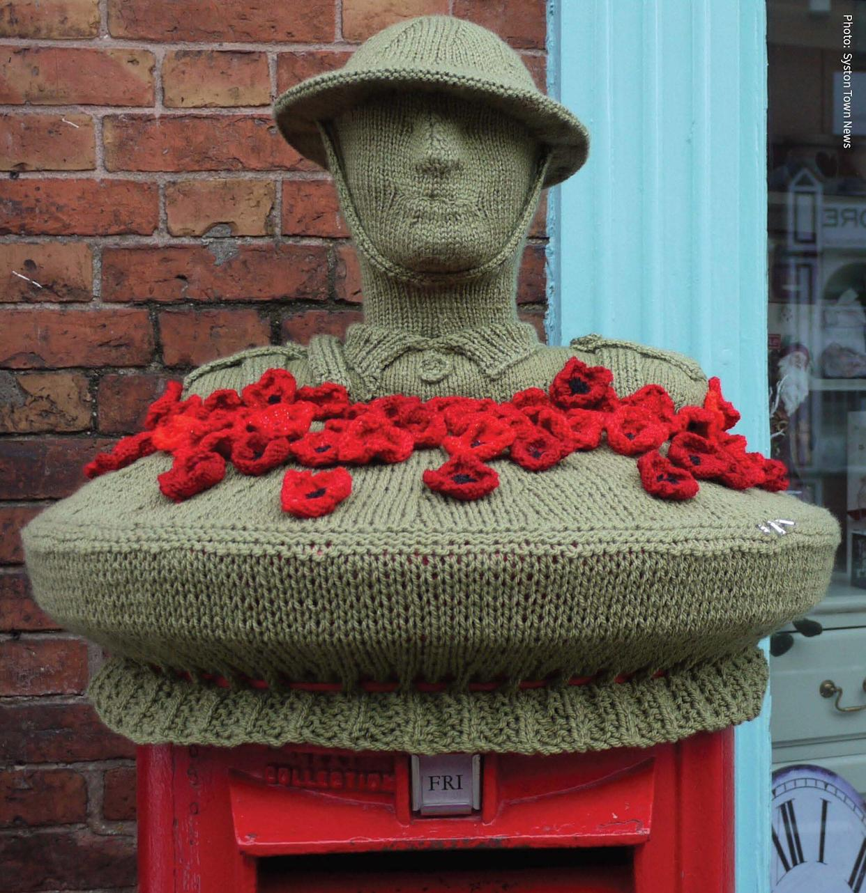 A Remembrance Day topper in Leicestershire (Lockdown Letterboxes/PA)
