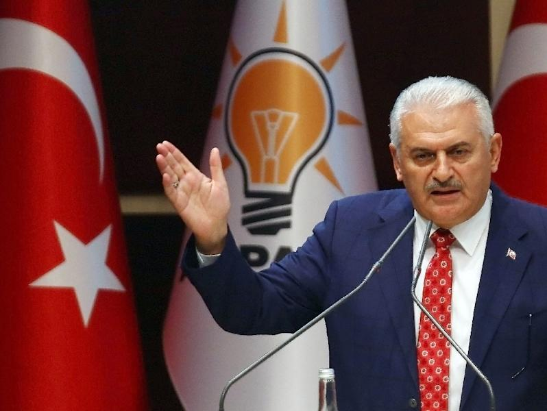 "Turkish Prime Minister Binali Yildirim accused the German parliament of ""signing up to a lie"" (AFP Photo/Adem Altan)"