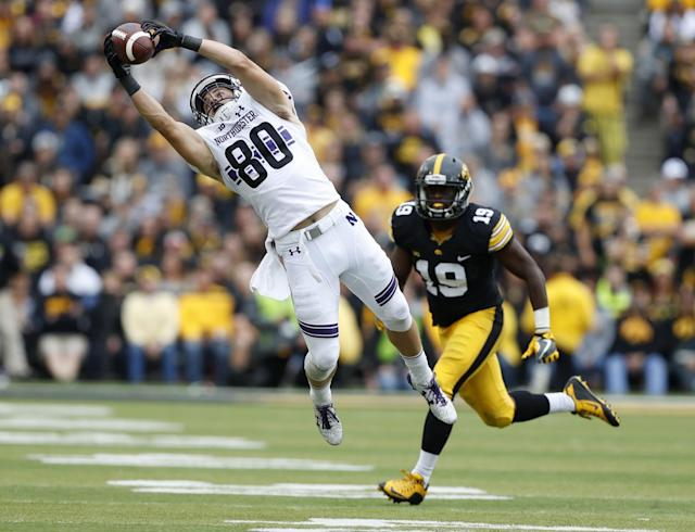 Northwestern WR Austin Carr came out of nowhere to have a monster season and attract NFL eyes. (AP)