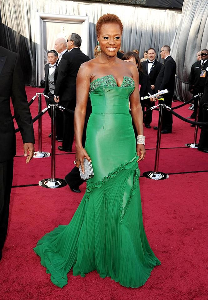 Viola Davis arrives at the 84th Annual Academy Awards in Hollywood, CA.