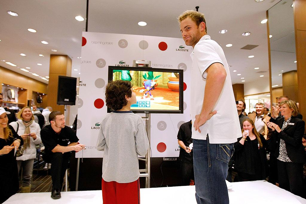 "As part of the celebration, 10% of Bloomingdales' sales will be donated to the Andy Roddick Foundation, a Boca Raton, Florida-based charity that benefits abused, at-risk, and terminally ill children. Jemal Countess/<a href=""http://www.wireimage.com"" target=""new"">WireImage.com</a> - March 24, 2008"