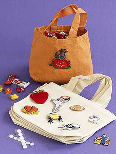 """<p>Stop worrying about having to buy trick-or-treat bags every single year and make your own with just a canvas bag and a few decorations. </p><p><em><a href=""""https://www.womansday.com/home/crafts-projects/how-to/a3020/multiuse-trick-or-treat-bags-21012/"""" rel=""""nofollow noopener"""" target=""""_blank"""" data-ylk=""""slk:Get the tutorial for Multiuse Trick-or-Treat Bags."""" class=""""link rapid-noclick-resp"""">Get the tutorial for Multiuse Trick-or-Treat Bags.</a></em></p><p><strong>What You'll Need</strong>: <a href=""""https://www.amazon.com/Canvas-Tote-Bags-Promotion-Giveaways/dp/B07CT88BFR/ref=sr_1_4?keywords=All-cotton+canvas+bag&qid=1563292608&s=gateway&sr=8-4&tag=syn-yahoo-20&ascsubtag=%5Bartid%7C10070.g.2488%5Bsrc%7Cyahoo-us"""" rel=""""nofollow noopener"""" target=""""_blank"""" data-ylk=""""slk:Cotton canvas bag"""" class=""""link rapid-noclick-resp"""">Cotton canvas bag</a> ($19 for 12, Amazon)</p>"""