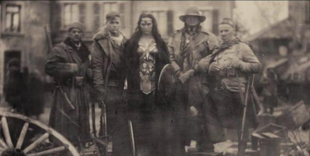 Wonder Woman and team in 'Batman v Superman' version (WB)