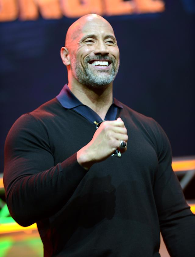 "<p>The wrestler-turned-actor isn't used to losing or taking no for an answer. Before he settled down with his longtime girlfriend, Lauren Hashian, the 45-year-old would often say, ""Why say no when it's so easy to say yes?"" He openly admitted to <em>People</em> that it was super-cheesy. (Photo: Getty Images) </p>"