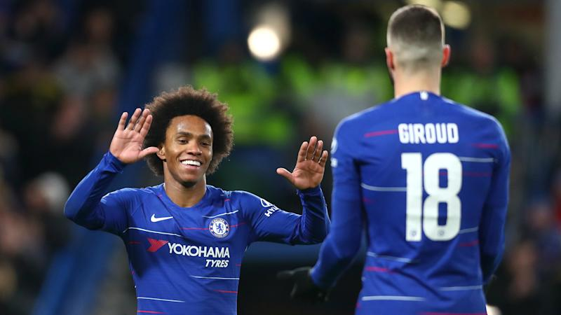 Lampard hopeful of reaching agreements with Willian and Giroud