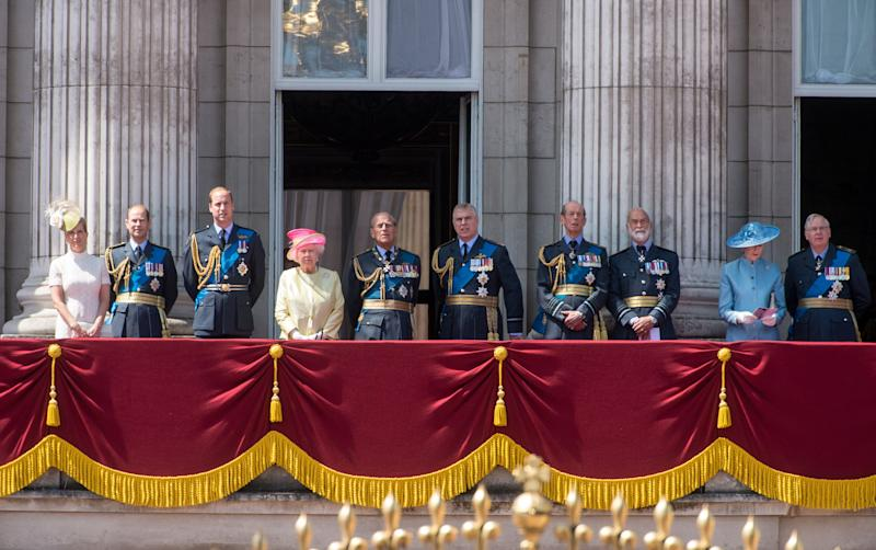 The Queen with her extended family on the balcony of Buckingham Palace to mark the 75th Anniversary Of The Battle Of Britain in 2015 [Photo: Getty]