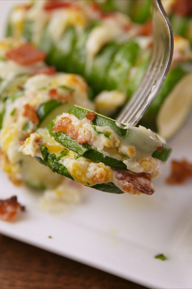 """<p>You've never seen zucchini like this before.</p><p>Get the recipe from <a href=""""https://www.delish.com/cooking/recipe-ideas/recipes/a57469/jalapeno-popper-stuffed-zucchini-recipe/"""" rel=""""nofollow noopener"""" target=""""_blank"""" data-ylk=""""slk:Delish"""" class=""""link rapid-noclick-resp"""">Delish</a>. </p>"""