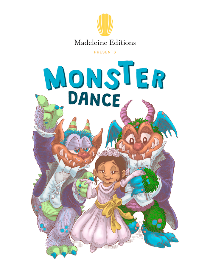 "A Kickstarter campaign will help get the ""Monster Dance"" e-book in the hands of children this fall. (Photo courtesy of Madeleine Editions)"