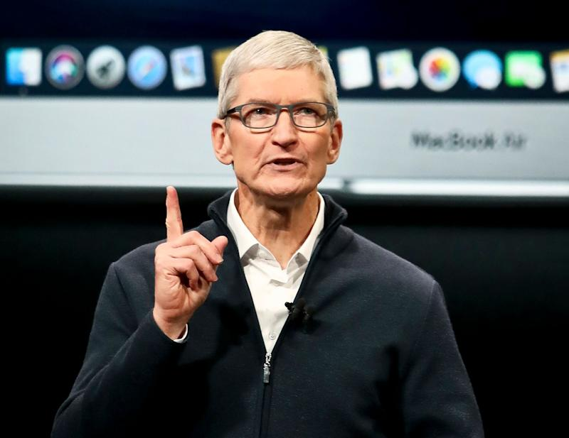 Apple CEO Tim Cook speaks during an event to announce new products Tuesday Oct. 30, 2018, in the Brooklyn borough of New York. (AP Photo/Bebeto Matthews)