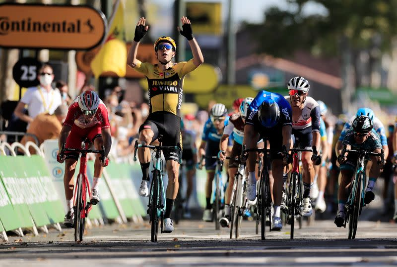 Tour springs into life as Pogacar loses time and Van Aert secures double