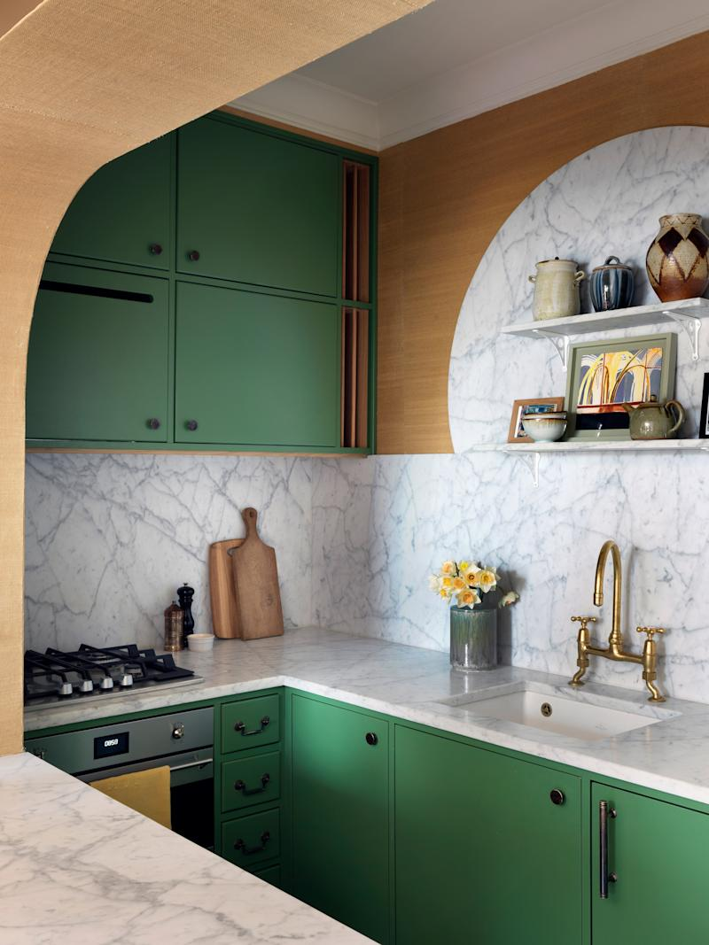 Beata used Italian architect Carlo Scarpa's interest in the materials, landscape, and history of Venetian culture to inspire her own rendition in the kitchen.