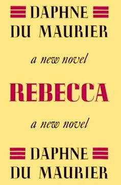 Front cover of Rebecca, all text.