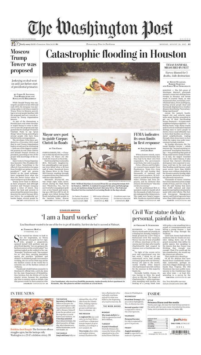 <p>The Washington Post<br> Published in Washington, D.C. USA. (newseum.org) </p>