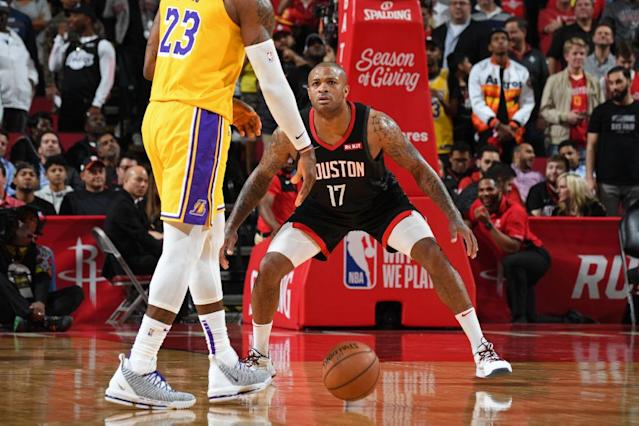 Now that P.J. Tucker is getting more and more minutes as the primary big for the Rockets, his fantasy value is growing. (Photo by Andrew D. Bernstein/NBAE via Getty Images)