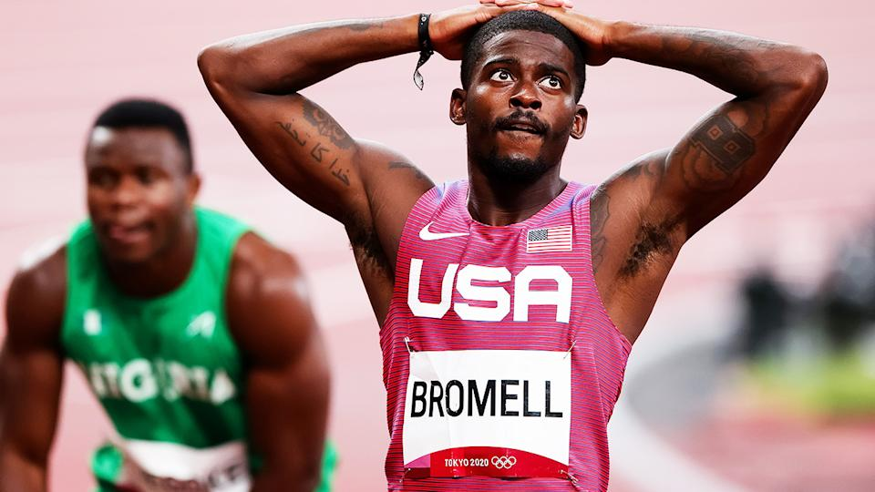 Trayvon Bromell, pictured here after failing to advance to the 100m final at the Olympics.