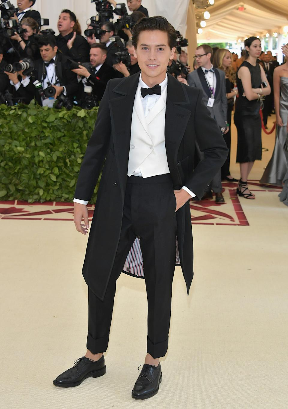 """<h1 class=""""title"""">Cole Sprouse in Thom Browne</h1><cite class=""""credit"""">Photo: Getty Images</cite>"""