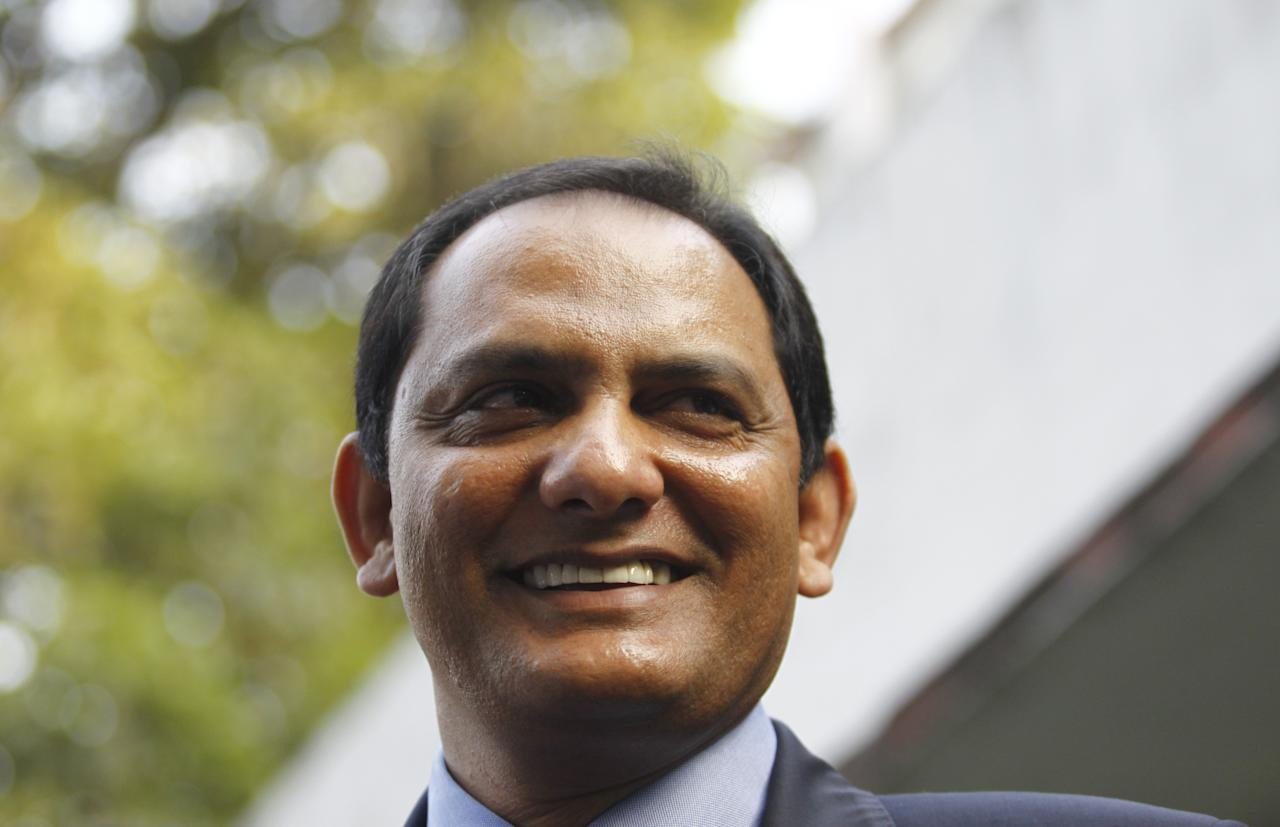 NEW DELHI, INDIA - NOVEMBER 8: Former Indian cricket captain Mohammad Azharuddin at his home at Lodhi Estate on November 8, 2012 in New Delhi, India. The Andhra Pradesh High Court lifted life ban on him. He was ordered to never play cricket again after he was falsely accused of match-fixing in December 2000. (Photo By Vipin Kumar/Hindustan Times via Getty Images)