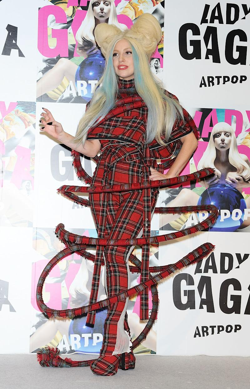 At an event in Japan in promotion of her album Artpop.