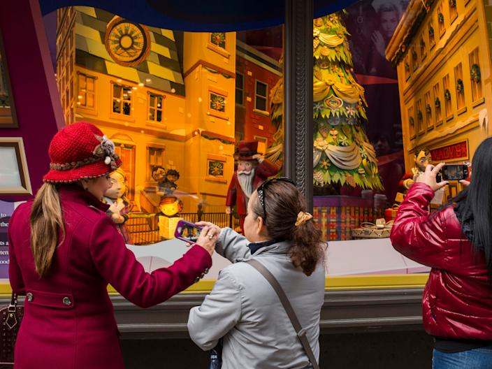 Macy's holiday window display