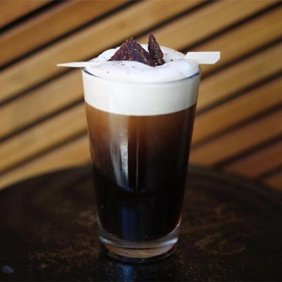 Starbucks has released a new coffee called the Pepper Nitro with a Jerky Twist. Photo: Starbucks