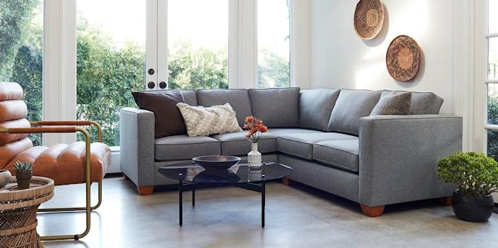 "<a href=""https://fave.co/2yqFgwr"" rel=""nofollow noopener"" target=""_blank"" data-ylk=""slk:Apt 2B"" class=""link rapid-noclick-resp"">Apt 2B</a> is known for simple and sophisticated furniture that is still relatively affordable. You&rsquo;ll find plenty of Southwestern and desert-inspired items such as this <a href=""https://fave.co/2Fhuk83"" rel=""nofollow noopener"" target=""_blank"" data-ylk=""slk:leather sofa"" class=""link rapid-noclick-resp"">leather sofa</a> and this <a href=""https://fave.co/33i5ZH0"" rel=""nofollow noopener"" target=""_blank"" data-ylk=""slk:woven dining chair"" class=""link rapid-noclick-resp"">woven dining chair</a>. <a href=""https://fave.co/2yqFgwr"" rel=""nofollow noopener"" target=""_blank"" data-ylk=""slk:Browse more from Apt 2B"" class=""link rapid-noclick-resp"">Browse more from Apt 2B</a>"