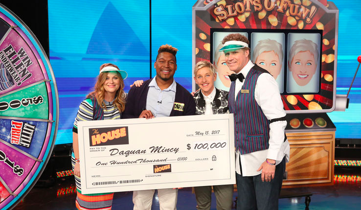 Amy Poehler, Daquan Mincy, Ellen DeGeneres, and Will Ferrell