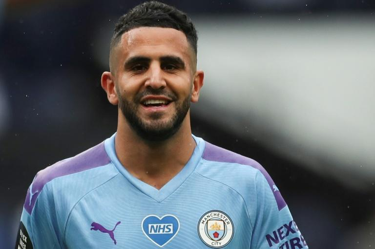 Riyad Mahrez in action for Manchester City