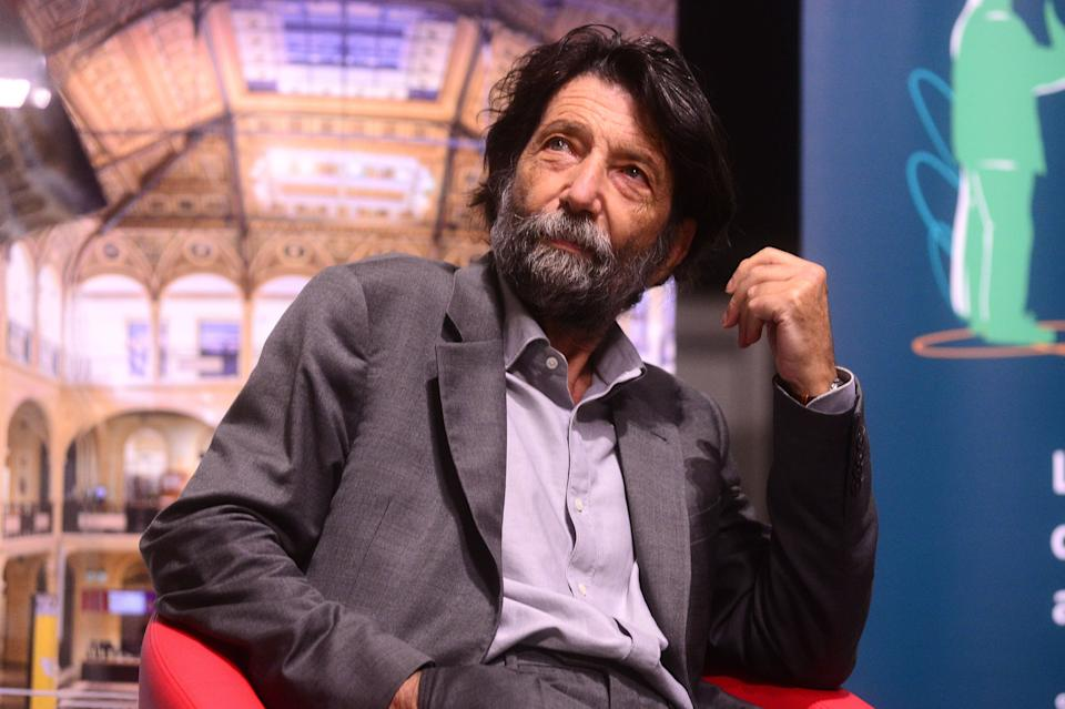 "BOLOGNA, ITALY - SEPTEMBER 24: Italian philosopher and author Massimo Cacciari presents his latest book ""The Work Of The Spirit"" during the Le Voci Dei Libbri Festivaò at Sala Borsa Hall on September 24, 2020 in Bologna, Italy. (Photo by Roberto Serra - Iguana Press/Getty Images) (Photo: Roberto Serra - Iguana Press via Getty Images)"