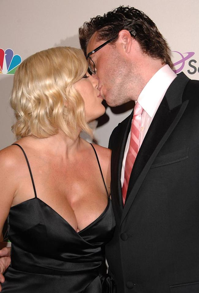 "Tori Spelling and her hubby Dean McDermott first kissed while shooting a made-for-TV movie in 2005 ... when both actors were married to other people! Steve Granitz/<a href=""http://www.wireimage.com"" target=""new"">WireImage.com</a> - July 20, 2008"