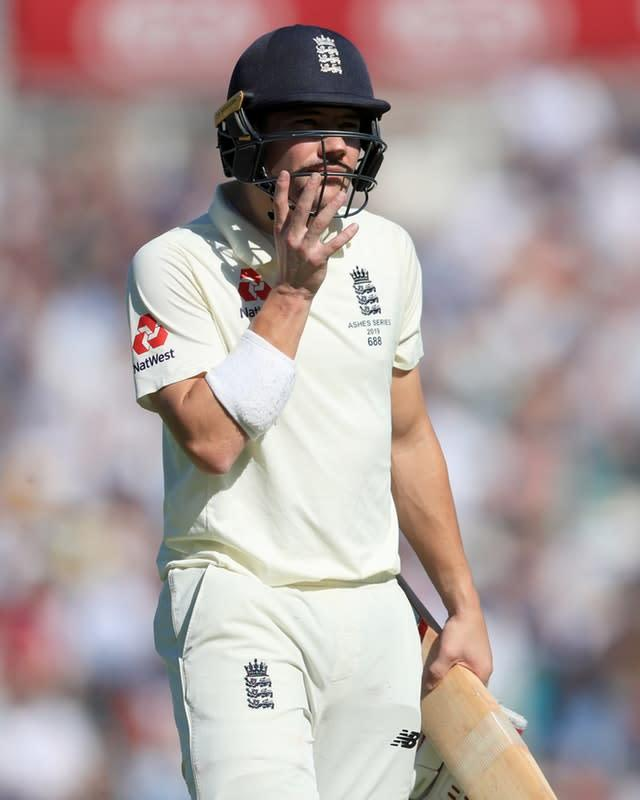 Rory Burns was dismissed (Mike Egerton/PA)