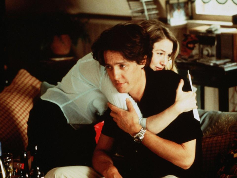 <p>Zellweger and Grant in 2001's 'Bridget Jones's Diary'</p>Rex Features