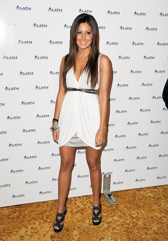 "Ashley Tisdale's extremely dark locks ... hot or not? Jordan Strauss/<a href=""http://www.wireimage.com"" target=""new"">WireImage.com</a> - July 24, 2009"