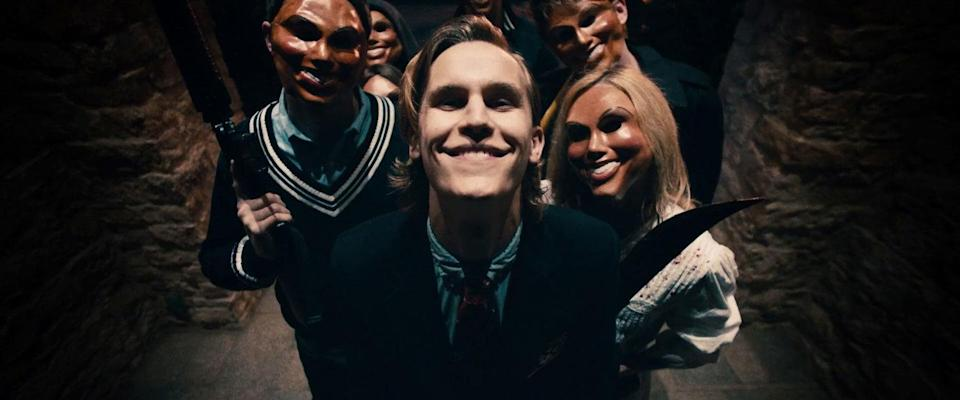 You don't want this lot at your door on Purge night. (Credit: Universal Pictures)