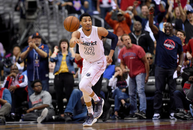 "<a class=""link rapid-noclick-resp"" href=""/nba/players/5154/"" data-ylk=""slk:Otto Porter Jr."">Otto Porter Jr.</a> is the glue that keeps the Wizards together. (AP)"