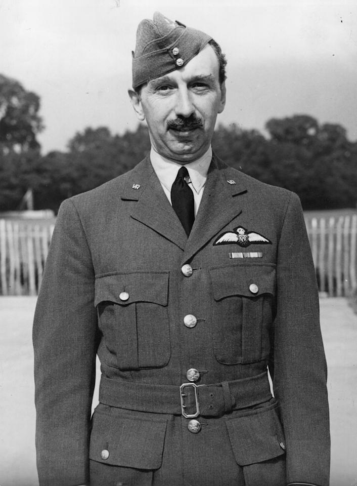2nd September 1940:  Cricket player, Percy Fender in a military uniform.  (Photo by Topical Press Agency/Getty Images)