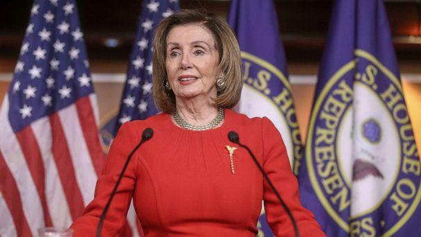 PHOTO: Speaker of the House Nancy Pelosi speaks about the impeachment of U.S. President Donald Trump during her weekly news conference with Capitol Hill reporters at the U.S. Capitol in Washington, D.C., Dec. 19, 2019. (Jonathan Ernst/Reuters)