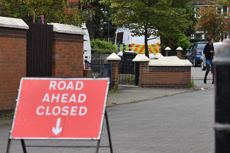 Police in Blossomville Way, in Acocks Green, Birmingham, where a 10-year-old boy has died. (Photo: PA Wire/PA Images)