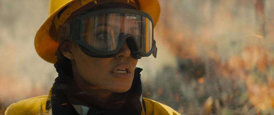 Jolie as a smokejumper in new film Those Who Wish Me Dead (Warner Bros/PA)