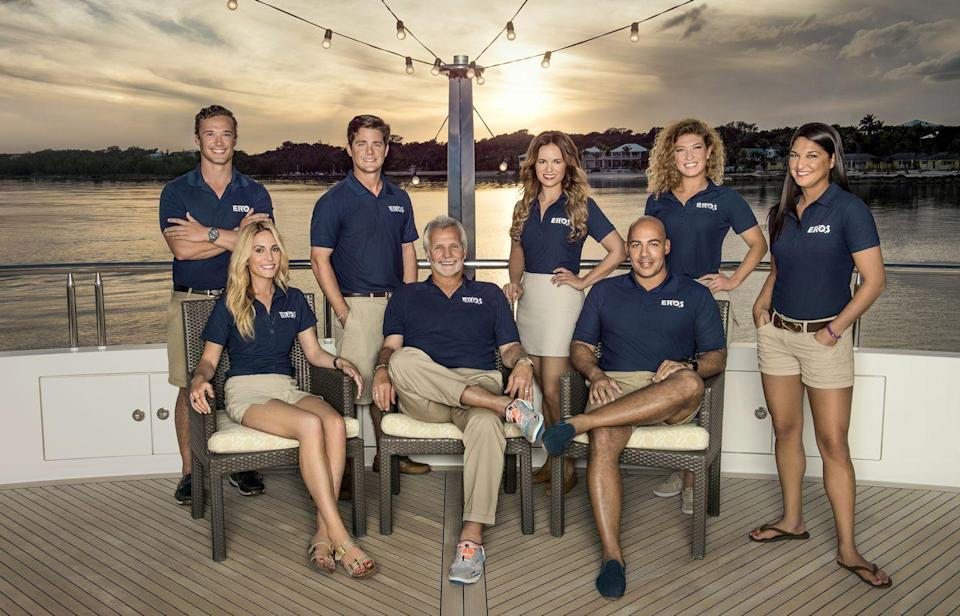 "<p>Each season is put together from around the clock footage taken of the cast members <a href=""https://www.nytimes.com/2020/06/29/style/below-deck-bravo.html"" rel=""nofollow noopener"" target=""_blank"" data-ylk=""slk:over the course of six weeks"" class=""link rapid-noclick-resp"">over the course of six weeks</a>. </p>"