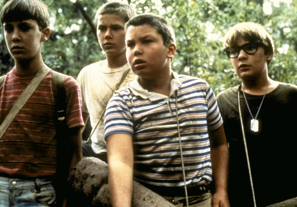 """<p>Based on a novella by Stephen King, this emotional coming-of-age story stars young Jerry O'Connell, Corey Feldman, Wil Wheaton, and River Phoenix (RIP) as friends in search of the body of a missing boy.</p> <p><em>Available to rent on</em> <a href=""""https://www.amazon.com/Stand-Me-Wil-Wheaton/dp/B000I9YV30"""" rel=""""nofollow noopener"""" target=""""_blank"""" data-ylk=""""slk:Amazon Prime Video"""" class=""""link rapid-noclick-resp""""><em>Amazon Prime Video</em></a>.</p>"""