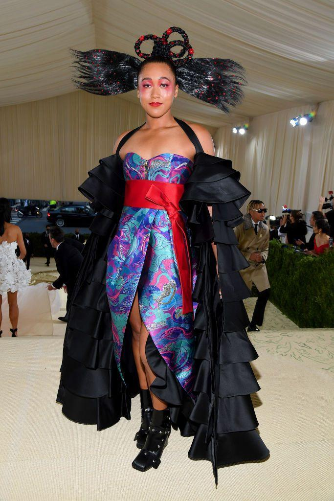 <p>The tennis star turned heads in a Louis Vuitton ensemble that paid homage to her own cultural heritages as well as saluting the idea of America as a melting pot. The look was wild and thoughtful at the same time, exactly what you want from a Met Gala attendee.</p>