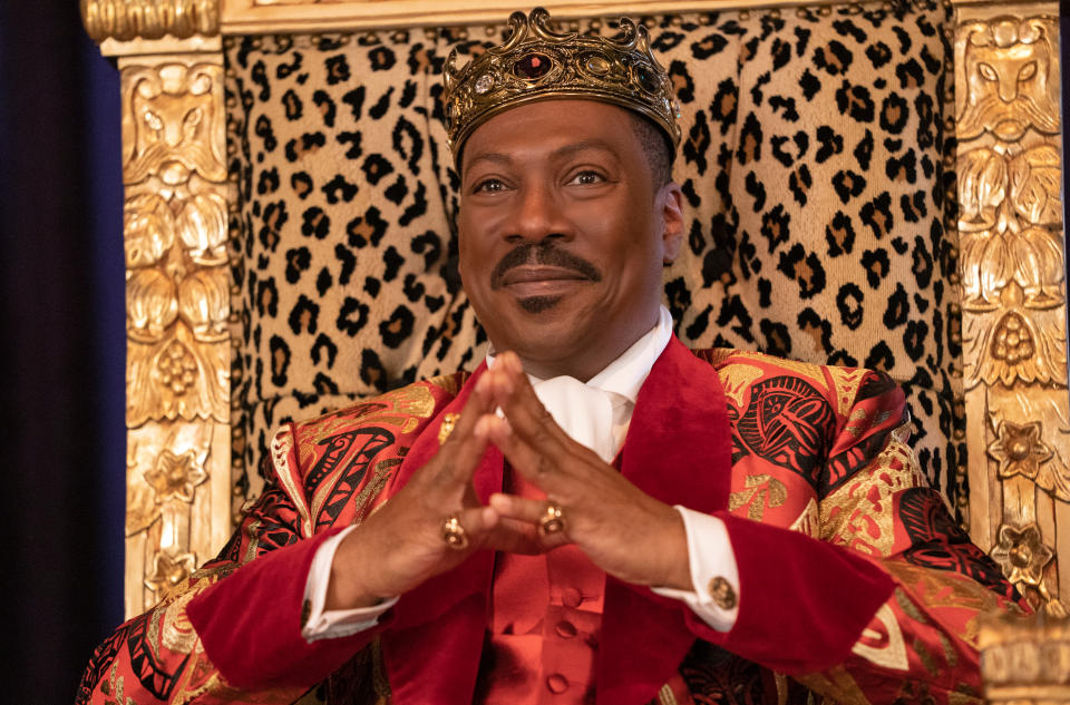 Eddie Murphy reprises the role of Prince Akeem of Zamunda in 'Coming 2 America'. (Credit: Amazon Studios)