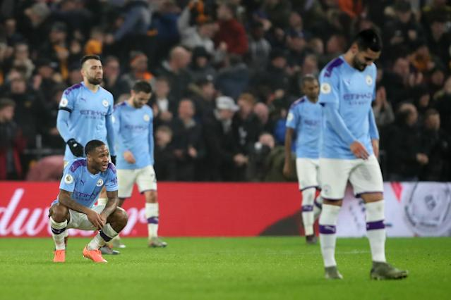 Manchester City is falling well short of the standard it's set for itself this season. (Photo by Marc Atkins/Getty Images)