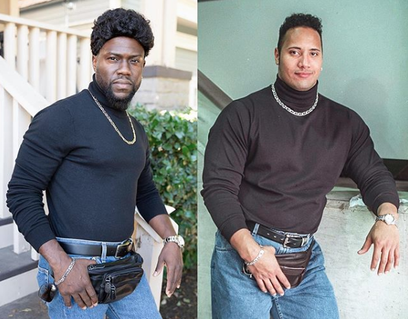 Kevin Hart and The Rock (Credit: Instagram)