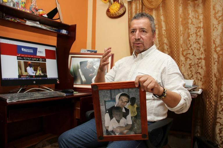 Sister Gloria's brother Edgar Narvaez said he was very emotional after hearing of her release (AFP/Leonardo CASTRO)