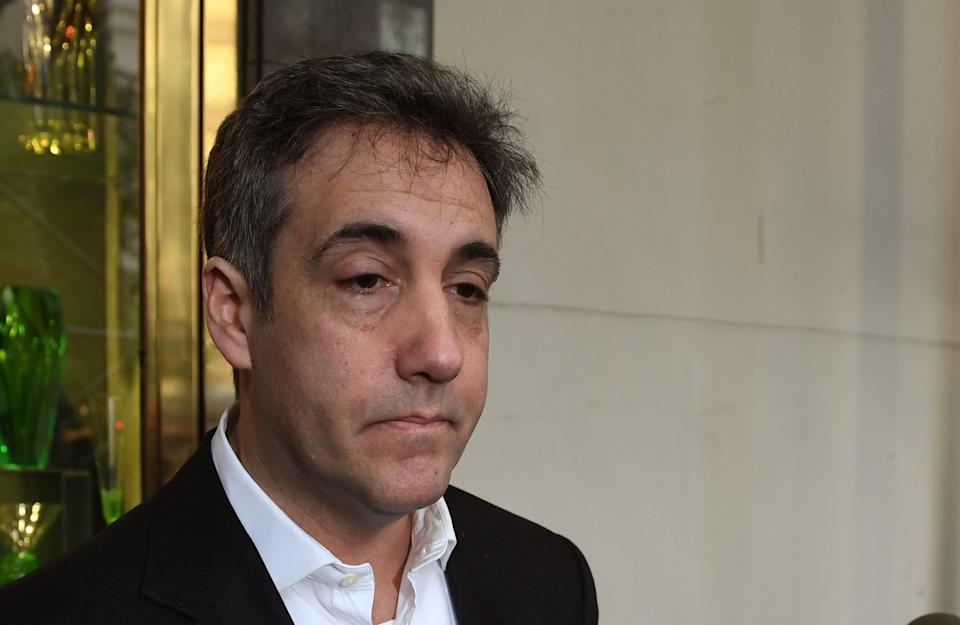 Michael Cohen, the former personal lawyer for President Donald Trump, leaves his Park Avenue apartment May 6, 2019, to begin a three-year prison sentence. Cohen later was allowed to serve home confinement because of the coronavirus. (Photo: TIMOTHY A. CLARY/AFP via Getty Images)