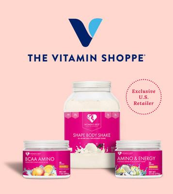 The Vitamin Shoppe is the exclusive U.S. retailer of Women's Best sports nutrition products.
