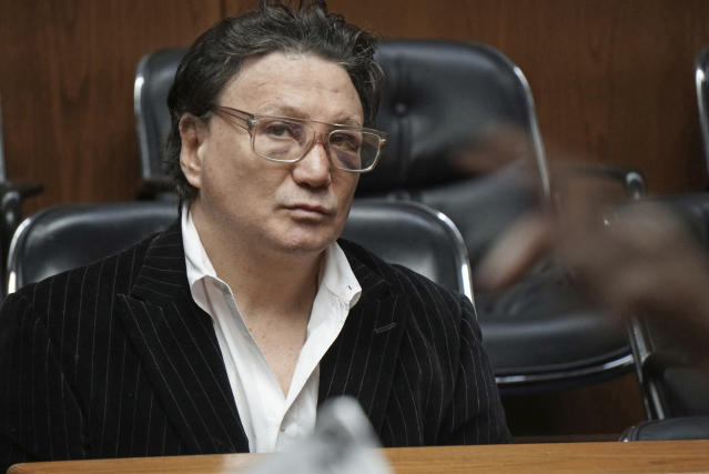 """Vinny Paz appears in court for assault charges on Wednesday, Jan. 3, 2018. The retired boxing champion whose comeback story after a car crash was dramatized in the 2016 film """"Bleed for This,"""" has been accused of attacking a Rhode Island man and sending him to the hospital. (Sandor Bodo/Providence Journal via AP, Pool)"""