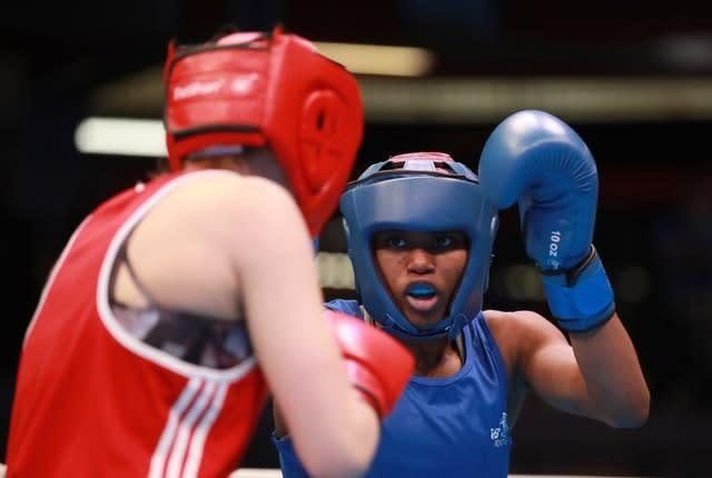 Caroline Dubois made a good start at the Boxing Road to Tokyo event (Adam Davy/PA)