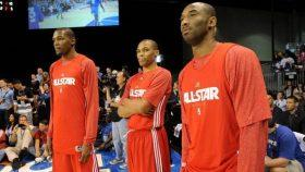 Thunder stars Kevin Durant and Russell Westbrook and Lakers star Kobe Bryant